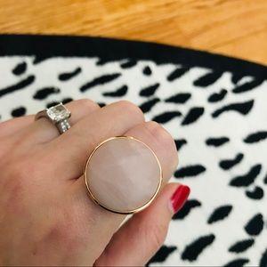 Bronzallure Rose Quartz and Rose Gold Ring